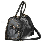 Rivet cloutés Fashion PU Sac à main w / bandoulière - Noir