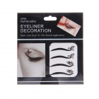 KC-29 Fashionable Charm Cosmetic Double-Eyelid Stickers - Black