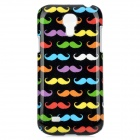 Colorful Mustache Pattern Protective Plastic Case for Samsung Galaxy S4 Mini i9190 - Black