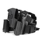 Adjustable Quick Release Plastic Tactical Puttee Thigh / Leg Pistol Holster Pouch for USP45 - Black