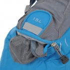 CoolChange Outdoor Cycling Extendable Double Shoulder Backpack - Blue + Grey (15L)