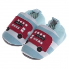 Nette Car Pattern warme weiche Krabbelschuhe - Light Blue + Red (0 ~ 6 Monate / Paar)