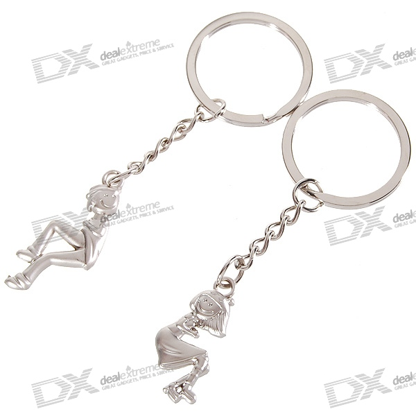 Stainless Lovers keychains (Man & Woman / 2-Piece Set)