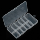 11-Cell Plastic Nail Art Accessories Storage Box - Transparent