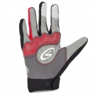 Spakct Outdoor Cycling Full-Finger Breathable Gloves - Red + Grey + Black (Size XL / Pair)