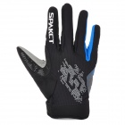 Spakct Outdoor Cycling Full-Finger Breathable Gloves - Blue + Grey + Black (Size XL / Pair)