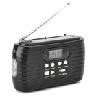 TEKNIKA RD-322 Solar / Dynamo Power AM / FM Digital Radio / Flashlight - Black + White