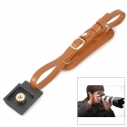 E1S-001 Universal Camera PU Wrist Band for SLR - Brown