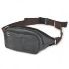 Outdoor Sports Canvas Waist Bag - Black