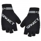 Spakct Outdoor Cycling Half-Finger Breathable Flexible Gloves - Black + Grey (Size L / Pair)