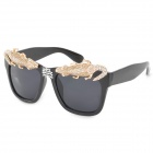 Fashion Cool Wall Lizard UV400 Protection Resin Lens Sunglasses - Black + Golden