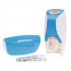 EZWIN BR01 Automatic Toothpaste Squeezer w/ Toothbrush Holder - White + Blue (2 PCS)