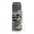 YONGQUAN YQB-S350 Stainless Steel Vacuum Bottle - Camouflage Green (350ml)