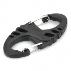 """S"" Style Plastic + Stainless Steel Outdoor Hanging Buckle - Black"