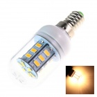 GCD K2 E14 4W 300lm 3500K 24-SMD 5730 LED Warm White Light Lamp Bulb - White + Silver (AC 220~240V)
