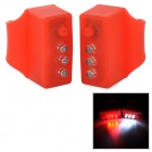 3-Mode 3-LED Red Light Bicycle Signal Lamps - Red (2 PCS / 4 x LR44)