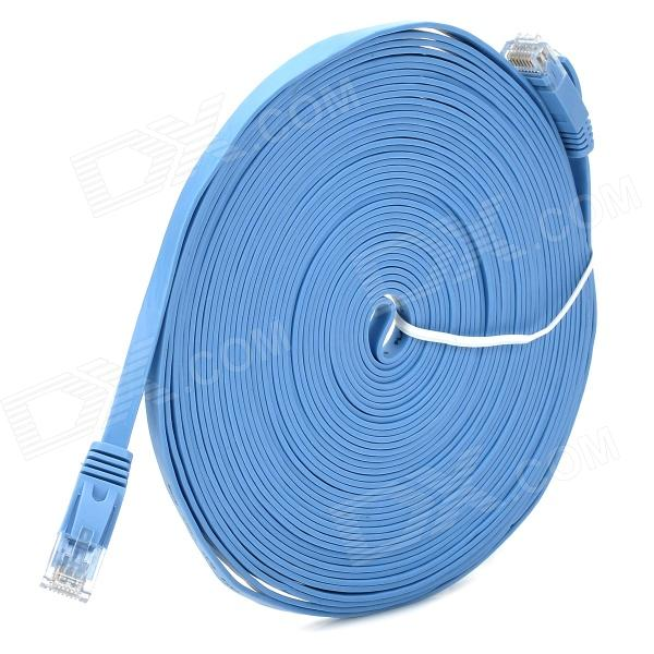 CAT-6 1000Mbps RJ45 macho para macho Plano Networking Cable - Blue (10m)