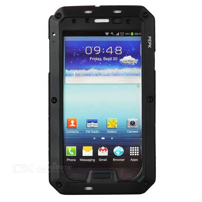 PEPK Water-resistant Aluminum Alloy Case for Samsung Galaxy S4 - Black от DX.com INT