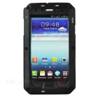 PEPK Water-resistant Aluminum Alloy Case for Samsung Galaxy S4 - Black