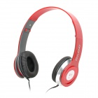 OVLANG X1 3.5mm Stereo Headphone w/ Microphone / Remote - Red + Silver + Black