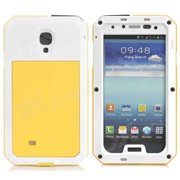 PEPK Water-resistant Aluminum Alloy Case for Samsung Galaxy S4 - Yellow + White от DX.com INT