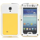 PEPK Water-resistant Aluminum Alloy Case for Samsung Galaxy S4 - Yellow + White