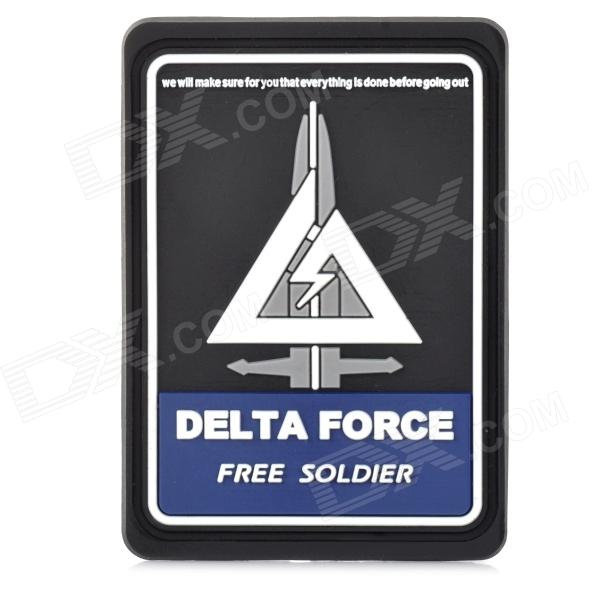 Free Soldier Stylish Decorative Rubber Velcro Armband - Black + Deep Blue + White alignment highlight rubber triangle eraser white