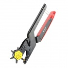 BYXAS PLA-200 Stainless Steel Revolving Hole Punch / Eyelet Pliers for Leather - Black
