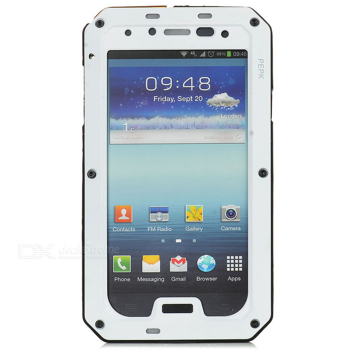 PEPK Water-resistant Aluminum Alloy Case for Samsung Galaxy S4 - Black + White от DX.com INT