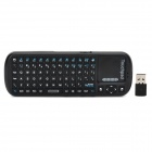 iPazzPort KP-810-21C 2.4G Wireless 81-key Keyboard Touchpad / Smart TV / PC Remote - Black