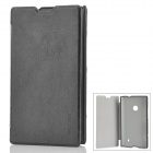 Pudini LX-520B Protective PU Leather Flip Open Case for Nokia Lumia 520 - Black