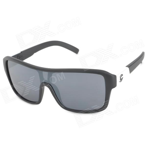 цены  OREKA 2084 Outdoor Sports UV400 Protection Cycling Sunglasses - Black + Silver White + Grey