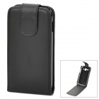 Stylish Flip-open Protective PU Leather Case for Samsung Galaxy Ace3 / S7270 / S7272 / S7275 - Black