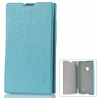 Pudini LX-520B Protective PU Leather Flip Open Case for Nokia Lumia 520 - Blue