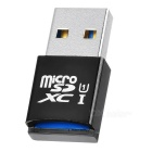 USB 3.0 Micro SD / TF Card Reader - Black