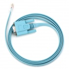 RJ45 Male / RS232 Female Serial Console Configuration Cable - Light Blue (1.5m)