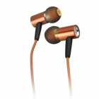 A7i  Stylish In-Ear Stereo Earphones w/ Microphone - Brown + Black (3.5mm Plug / 128cm Cable)