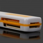 USB 2.0 4-in-1 TF / SD / MS / M2 Card Reader - White + Yellow