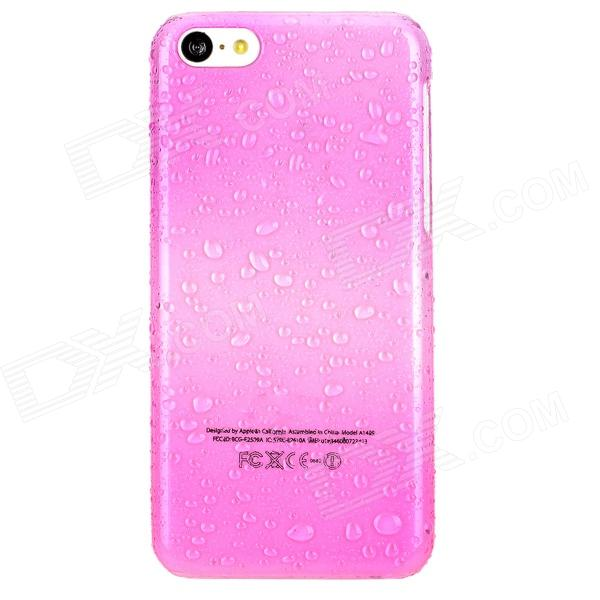 Water Drop Pattern Protective PC Case for Iphone 5C - Deep Pink virgo pattern protective abs pc hard back case w rhinestone for iphone 5 deep pink white