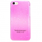 Water Drop Pattern Protective PC Case for Iphone 5C - Deep Pink