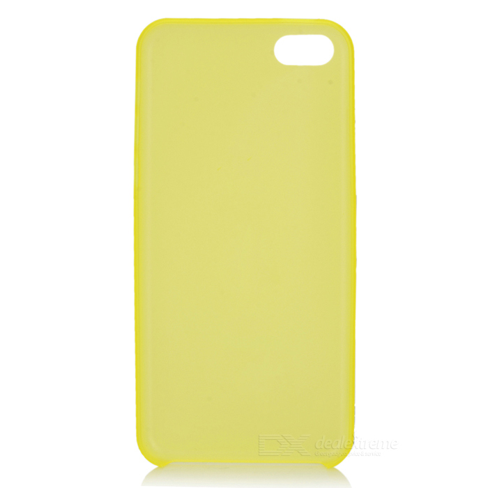 Protective Plastic Slim Back Case for Iphone 5C - Yellow