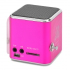"TD-V26 Portable Mini 1.0 ""LCD Speaker w / MP3 / FM Radio-profundo recortar + negro"