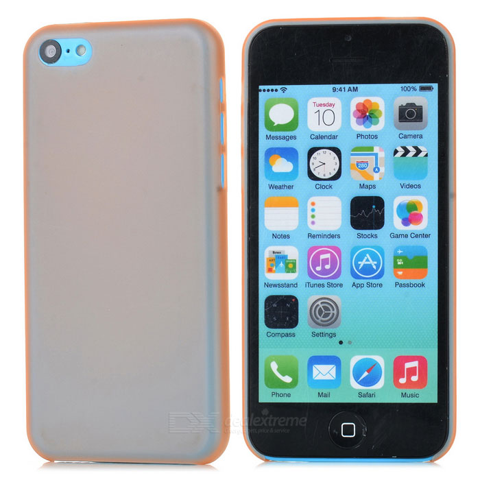 Protective PC Case for Iphone 5C - Translucent Orange