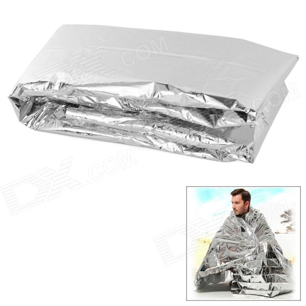 Free Soldier Outdoor Emergency PET Film Lifesaving Insulation Blanket - Silver
