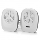 Y-2R Mini Portable USB 2-CH Speakers for Laptops / Tablets / MP3 + More - Black + White (2 PCS)