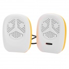 Y-2O Mini Portable USB 2-CH Speakers for Laptops / Tablets / MP3 + More - Orange + White (2 PCS)