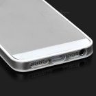 Supper Slim Flexible PC + TPU Bumper Frame Case for Iphone 5 - White + Translucent