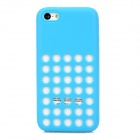 Protective Hollow-out Plastic Silicone Case for Iphone 5C - Blue