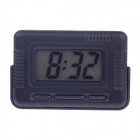 "2"" LCD High Light LED Digital Car Clock w/ Holder - Black (1 x AG10)"