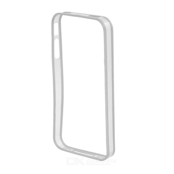 Ultra-Slim Stylish PC + TPU Frame Bumper Case for Iphone 4 / 4S - White + Transparent